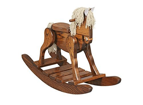 Antique Wooden Rocking Horse - 4