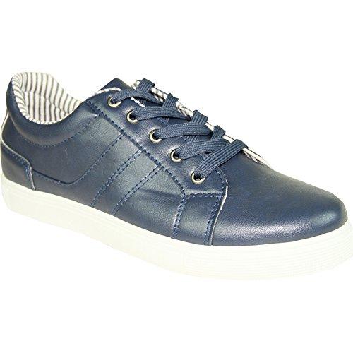Chaussures De Sneaker Coronado Hommes Gatsby-1 Confort Doux Avec Un Bout Rond Uni Marine 9m