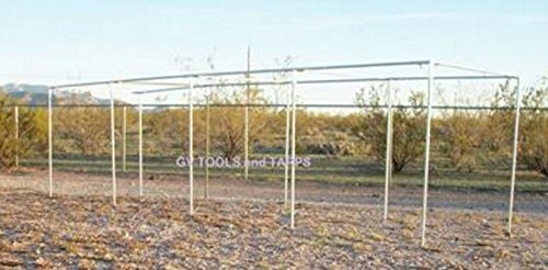Golden Valley Tools & Tarps 40' BASEBALL/SOFTBALL STRAIGHT LEG BATTING CAGE 1'' FITTINGS ONLY by Golden Valley Tools & Tarps