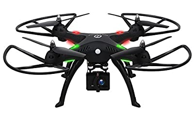 1080P Camera Drone,Holy Stone HS300 RC Quadcopter with 120° Wide-angle HD Camera 6-Axis gyro 2.4 GHz with Altitude hold, One Key Return and Headless Mode Function RTF Includes Bonus Battery