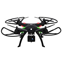 Holy Stone HS300 RC Drone Quadcopter with 1080P 120° Wide-angle HD Camera 6-Axis Gyro 2.4 GHz with Altitude Hold,One Key Return and Headless Mode Function RTF Includes Bonus Battery