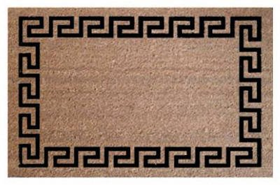 - Palm Fibre PLM 17391 24 x 36 in. Greek Key Coir Door Mat