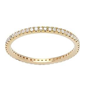 10k Yellow Gold Eternity Diamond Wedding Band (1/3 cttw, I J Color, I2 I3 Clarity)