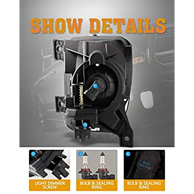 Fog Lights for 2013-2020 Dodge Ram 1500 Pickup Truck/ 2020 Dodge Ram 1500 Classic with Bulbs 9006 12V 51W AUTOFREE OE Fog Lamps Assembly- 1 Pair (Clear Lens): Automotive