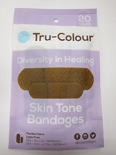 Tru-Colour Skin Tone Adhesive Fabric Bandages Match Your Ski