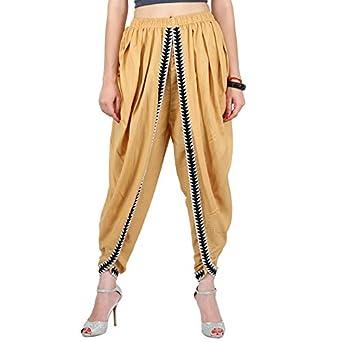 Khazana Basics Beige Color Rayon Dhoti Pant for Women