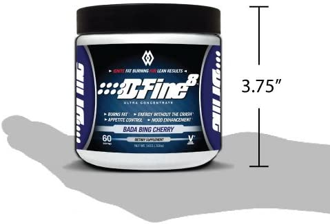 Musclewerks D-Fine8 - Fat Burner Thermogenic, Pre Workout Powder, Appetite Suppressant, Energy & Weight Loss Supplement for Men & Women - 60 Servings Vegan Friendly (Bada Bing Cherry) 3