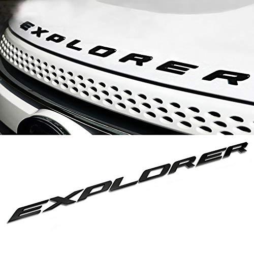 3D Letters Metal Explorer Car Front Hood Emblem Badge Sticker Decal Fit for Ford 2011-2017 (Matte -