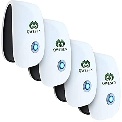 Ultrasonic Pest Repeller | Best Pest Control Ultrasonic&Ultrasound Repellent - Electronic Pest Control - Plug in Home Indoor Repeller - Pest Reject - Get Rid of Mosquitos, Insects, Rodents, Termites