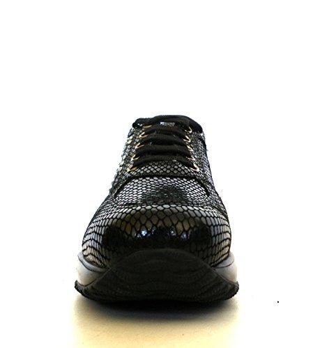 Hogan Femmes Chaussures Interactives Strass H Strass + Goujons Modèle Hxw00n0e4306rt9999 Noir