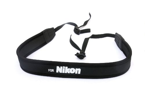 Fotasy Professional Neoprene Neck Strap for NIKON Cameras, camera neck strap for Nikon D5 D4 D3 DS850 D810 D800 D750 D7500 D7300 D7200 D7000 D5600 D5500 D5300 D5100 D5000 D3500 D3400