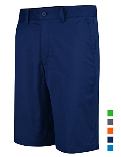 Lesmart Men's Golf Shorts Relaxed Fit Quick Dry Flat Front Cool Summer Pants Size 44 Navy