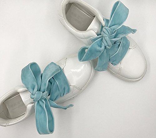 Set von 2 Shoelace Samt Schnürsenkel Fashion Schuh Schnürsenkel 120CM Mehrfarbig 06