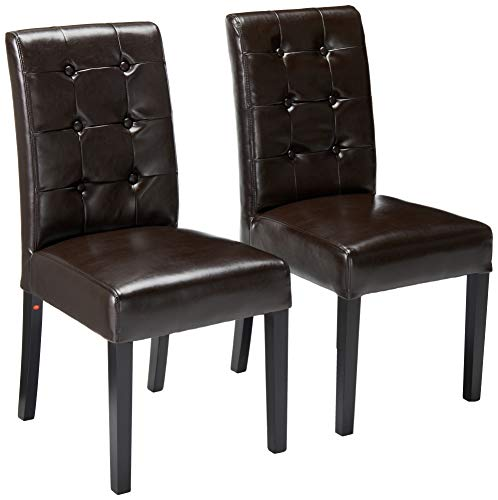 Strange Christopher Knight Home Gillian Brown Leather Dining Chair Set Of 2 Cjindustries Chair Design For Home Cjindustriesco