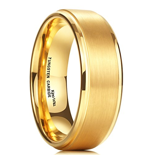king-will-mens-8mm-matte-finish-tungsten-carbide-ring-24k-gold-plated-beveled-edge-wedding-band115