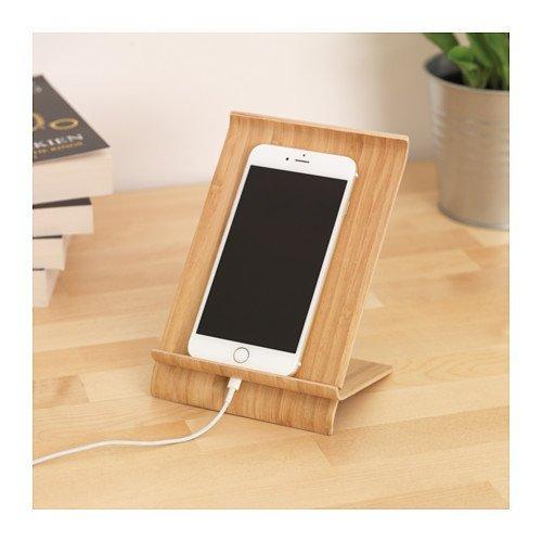 Soporte para teléfono móvil, sigfinn IKEA, chapa de bambú, profundidad: 12 cm, ancho: 13 cm, altura: 18 cm: Amazon.es: Electrónica
