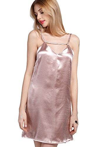 Dress Sleeveless Mini Gal Rose Bodycon Women's Sequins Wink E Party qxTgw0CE