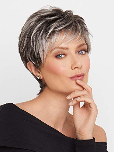Crushing Casual Wig Short Boy Cut lace Front Angled Fringe by Raquel Welch Wigs R4 ()