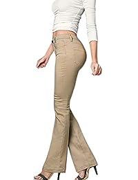 Hybrid & Company Women's Skinny Fit Boot Cut Stretch Pants
