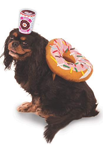 Donut and Coffee Pet Suit, Medium (Coffee Doughnuts)