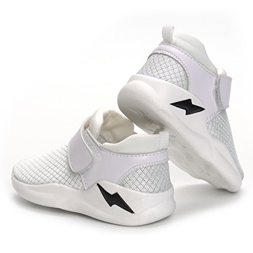 MK MATT KEELY Kids Mesh Running Sneakers Baby Boys Girls Anti-Slip Casual Shoes White 26 by MK MATT KEELY (Image #4)