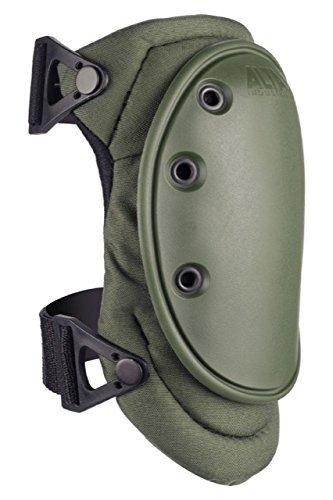 ALTA 50413.09 AltaFLEX Knee Protector Pad, Olive Green Cordura Nylon Fabric, AltaLOK Fastening, Flexible Cap, Long, Olive Green