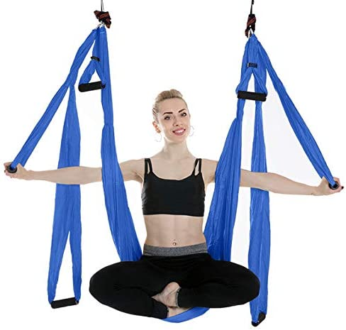 lOOkME-H Large Bearing Aerial Yoga Trapeze Hammock High Load Capacity for Swing Inversion Sling with a Carrying Bag