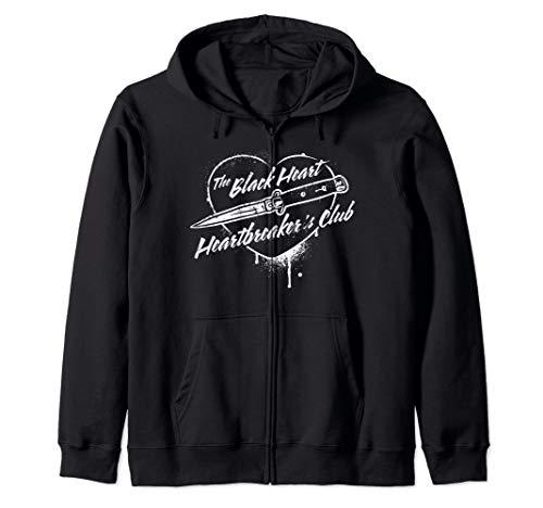 The Black Heart Heartbreaker's Club Switchblade Zip Hoodie