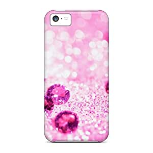 Fashionable TJX3310UIpD Iphone 5c Case Cover For Purple Diamonds Protective Case