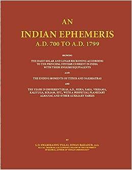 Buy An Indian Ephemeris (6 Vol  Set ) Book Online at Low Prices in