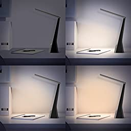 Aglaia Rechargeable Table Lamp 4W, Touch Dimmable LED Desk Lamp with 3-Level Brightness and 3LightingModes, Portable Desk Light with 180° Rotation