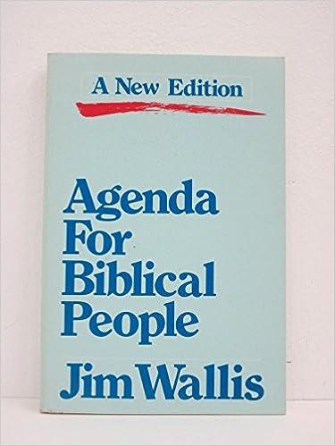 Book Agenda for Biblical People