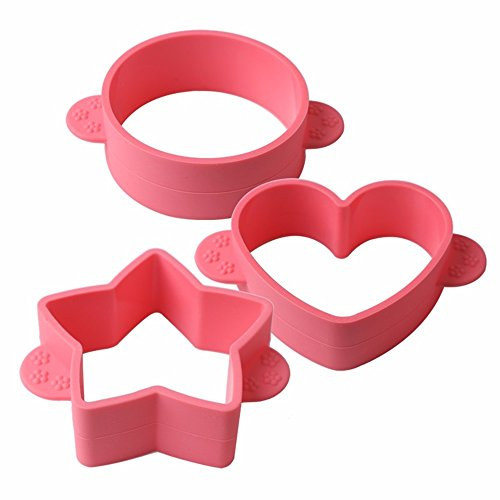 SuperStores 3pcs/set Silicone Cake Mold 3D Round Heart Star Sugarcraft Chocolate Fondant Mold Christmas Cake Decorating Tools