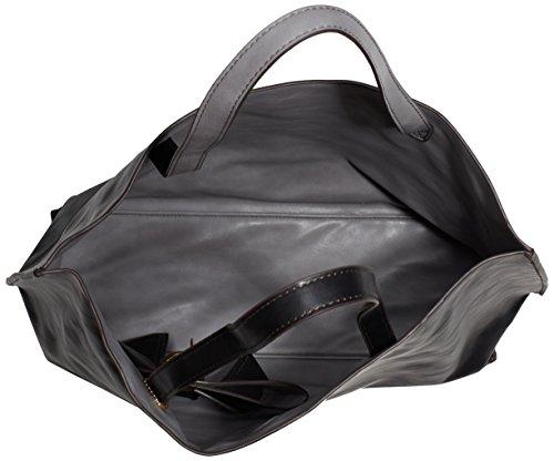 Saccess - Dy1501, Borsa A Tracolla da donna Nero (black/grey)