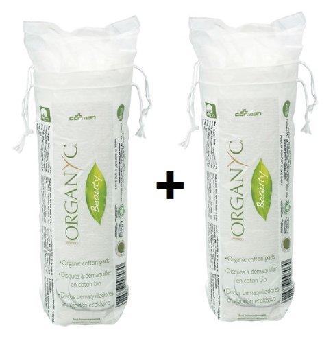 Organyc Wattepads aus 100% biologischer Baumwolle in biologisch abbaubarer Verpackung 2x 70 St. Doppelpack