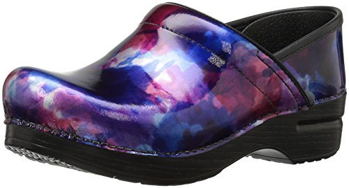 Dansko Women's Professional Mule, Watercolor Patent, 40 M EU / 9.5-10 B(M) US