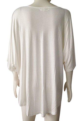 Vococal - T Camicie Sciolti Causale Top / Copricostumi e Parei V Profondo Scollo Copricostume per Donne Estate,Bianco