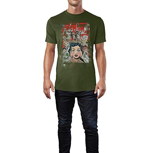 SINUS ART® Wedding Nightmare Herren T-Shirts Armee grünes Cooles Fun Shirt mit tollen Aufdruck