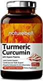 Organic Turmeric Curcumin 1500mg, 180 Veg Capsules, with Black Pepper Exact, Antioxidant & Anti-inflammatory for Joint Pain Relief, Non-GMO, Vegan Friendly and Made in USA For Sale