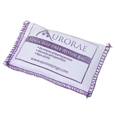 Aurorae Yoga Slip Free Rosin Bag. Stop Slipping on your Yoga Mat, Odor Free and Non Sticky. Made in USA. from Aurorae