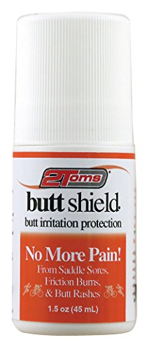 2Toms ButtShield (Roll-On) - Provides 24 Hour Protection from Chafing and Skin Irritation - Waterproof and Sweatproof (1.5 - Tom Shield