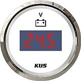 """KUS Waterproof Digital Voltmeter Voltage Gauge 12V/24V 52MM(2"""") With Backlight"""