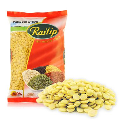 Raitip Dried Peeled Split Soy Bean 500gx 1pack Thai by Raitip