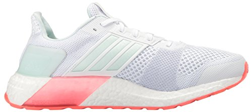 Adidas Performance Dames Ultra Boost Straatschoen Wit / Ice Mint / Shock Red S