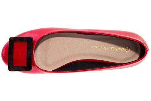 Machado Donna Ballerine Rosso Andres Rot Y87Sqww
