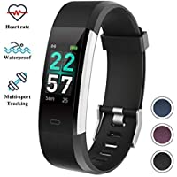 Fitness Tracker Watch with Heart Rate Monitor, Color Screen Activity Tracker ITSHINY Waterproof IP68 Smart Bracelet Unisex Upgraded