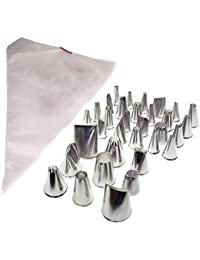 Take 133 Piece Icing Piping Cake Cookie Decorating Nozzle and Bag Set By Kurtzy TM offer