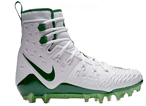Nike Men's Force Savage Elite TD Football Cleat (10.5, White/Green) (Nike Football Cleats All White)