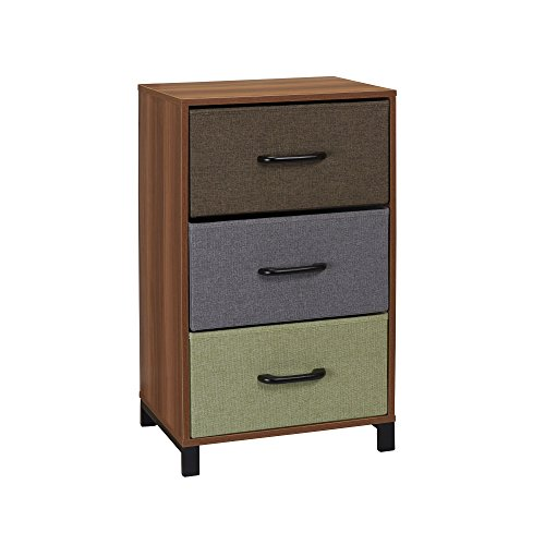 Household Essentials 8033-1 Wooden 3 Drawer Dresser | Storage Night Stand | Honey Maple 4 Drawer Dresser Honey