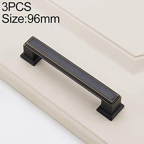 WZY 林3 PCS 6609_96アメリカンスタイルブラックブラス引き出しキャビネットハンドル